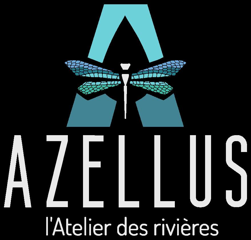 logo blanc Azellus bureau d'étude eau et environnement en dordogne